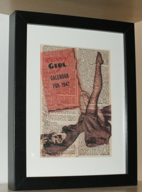 vintage dictionary artwork handmade design folksy
